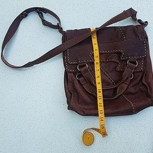 Lucky Brand Foldover Leather Bag